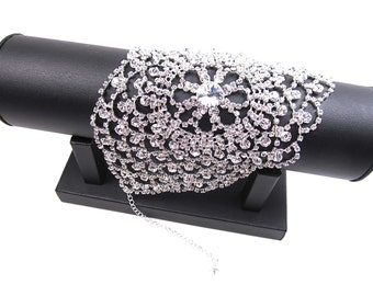Rhinestone  Bridal Bracelet, Rhinestone Wedding Bracelet, Rhinestone Evening Bracelet EB 54