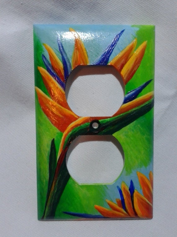 Light Switch Cover Hand Painted Bathroom By Meloartgallery