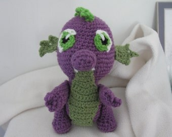 Spike the Dragon amigurumi plush