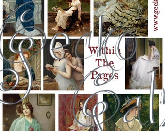 Within the Pages Digital Collage Sheet