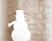 Nordic Snowman Die Cuts, Large Snowman, Christmas Decorations , 25 Snowflakes, Winter Decorations