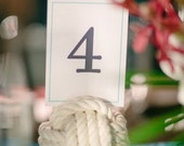 17 Nautical Wedding Table Number Holders - Beach Wedding Decor