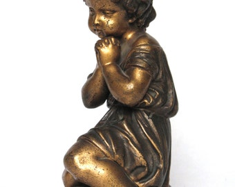 Darling Antique French Spelter Statuette from the late 1800s, in excellent condition