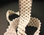 """1.5"""" inch Crochet headband roll Stretch trim- IVORY Cream elastic-- 2 YARD roll-- DIY headbands --Tutu waistband Crochet yardage"""