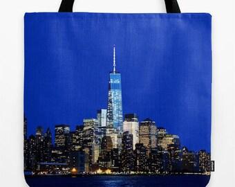 NYC Bag, Freedom Tower Print, New York City Print, NYC Skyline, Urban Photo, NYC