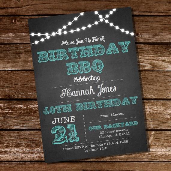 Chalkboard bbq birthday invitation 16th 20th 21st 25th 30th 40th il570xn filmwisefo