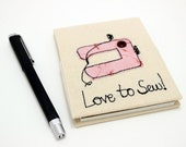 Notebook. Love to Sew, fantastic journal or mini diary