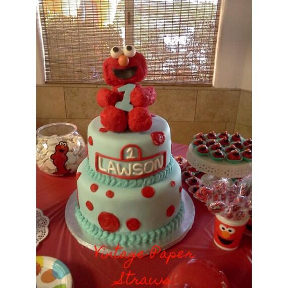 Elmo Cake Decorations : Items similar to SALE-Elmo Cake Topper 8