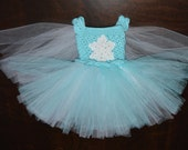 Crochet Princess Tulle Tutu Dress with Attached Cape Baby Costume Handmade Photo Prop