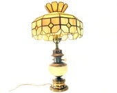 Stained Glass Table Lamp, Tiffany-style Shade, Perfect, Vintage Home Decor, Lighting