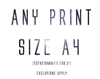 Any print in size A4 - made to order