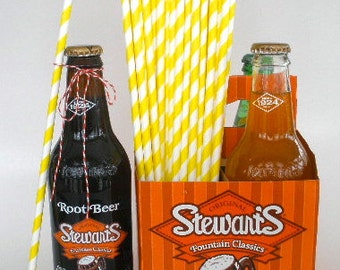 "25 ""Extra Long"" YELLOW Stripe Paper Straws 10.5"" long…Soda Bottle Paper Straws….Weddings…Paper Drinking Straws….Long Paper Straws"