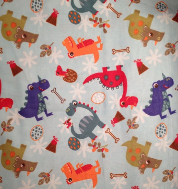 Flannel colorful baby dinosaurs dinosaur fabric dinosaur for Baby dinosaur fabric