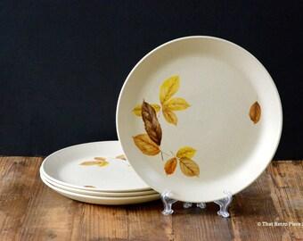 Johnson of Australia 'Woodside' dinner plates, set of four (c. 1972-74)