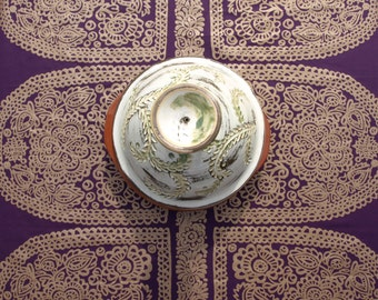 Marimekko Tablecloth eggplant purple gold decor Scandinavian table cloth , table runner , napkins , pillows , curtains available, great GIFT