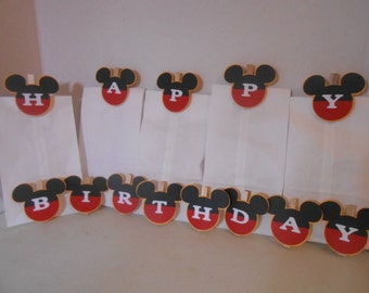 Mickey Mouse Treat Bag Clips