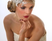 Bridal Head band.  Unique Lace and Diamante design
