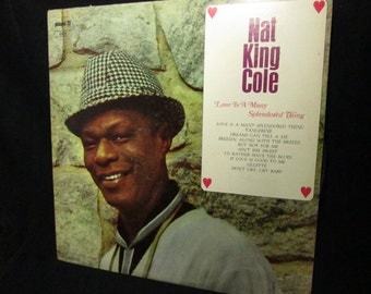 Vintage Nat King Cole Love is a Many Splendored Thing Record