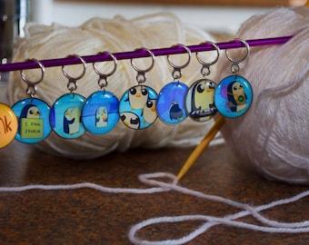 Adventure Time Gunter Stitch Markers (Set of 8)