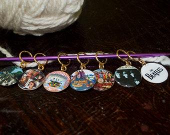 The Beatles Album Art Stitch Markers (Set of 7)