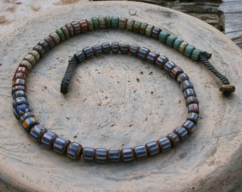 African glass bead necklace