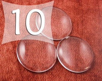 38 mm Circle Clear Glass Cabochons Glass Tile Cabs