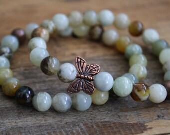 jade/ jade bracelet/ butterfly bracelet/ butterfly jewelry/ bracelet/ beaded bracelet/ butterfly