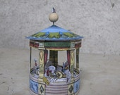 Miniature Paper toy Circus- carousel miniature-Digital download- DIY Craft Kit Paper Toy- architecture model- craft for kids