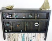 Jewelry Organizer Display Hanger Holder Ebony Black Handmade