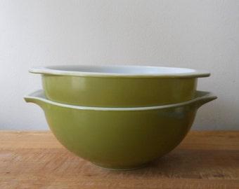 Pyrex Avocado Mixing Bowls