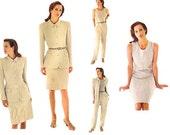 Womens Suit Vogue 1635 Size 12-16 Bust 34-38 Calvin Klein Below Hip Jacket Sleeveless Dress A Line Skirt Tapered Pants Womens Pattern UNCUT