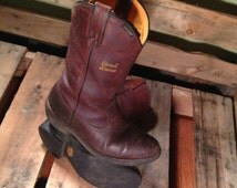 25% OFF // Men's 9W Dark Brown Leather Chippewa Waterproof Peco Style Lined Boot