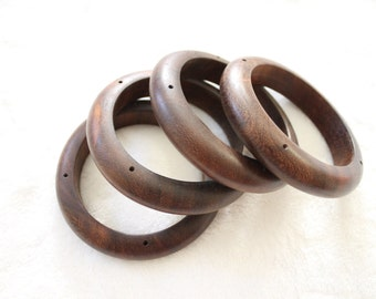 """Cassia, Robles Wood bangle 3.5"""" 15mm thickness 1 piece"""