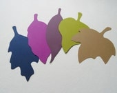 Fall Decor, Leaf Placecards, Fall Wedding Leaves, Large 4 inch Card Stock Leaf Cutouts, Die Cuts, Scrapbooking, Set of 25