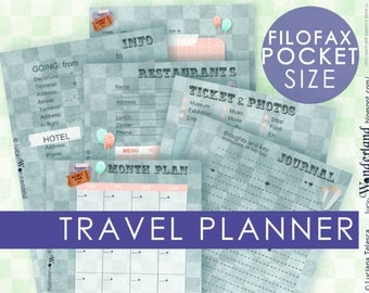 Travel planner for your filofax pocket