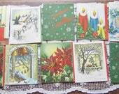 Vintage Christmas Cards Set of 10  UNSIGNED Art Guild of Williamsburg