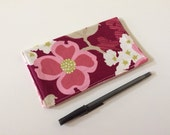 Dogwood Fabric Checkbook Cover