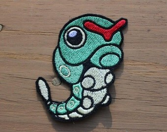Pokemon Caterpie iron-on patch