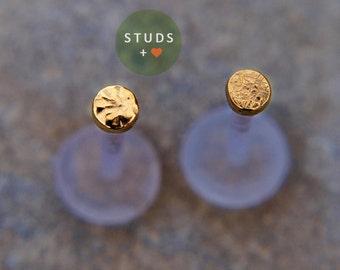 Medusa Piercing Lip - Jewelry Gold Medusa Piercing - Medusa Piercing Gold - 2mm Medusa Lip Stud - 3mm Medusa Piercing