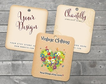 Clothing Tags - 15 Tags for Clothing - Branding for Clothing - Product Tag - Hangtag