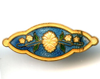 Enamel Pin with Flowers