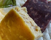 Chunky Soaps Duo, Lemon Drop Soap, Wild Berry Soap, Large Bars, Homemade Vegan Soaps, Special Offer