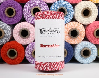 240 Yards of Twist Maraschino Red Baker's Twine - String - Embellishment Packaging Craft Party Supplies