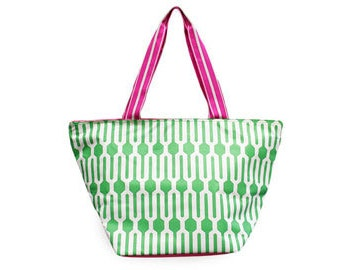 Personalized All for Color Large Everyday Tote: Fresh Pick Geo TCMC6616
