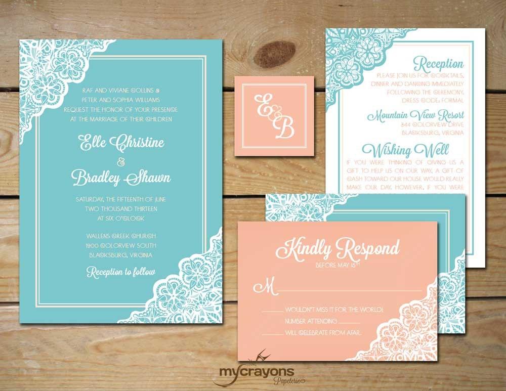 Tiffany Blue Wedding Invitations Kits: Unavailable Listing On Etsy