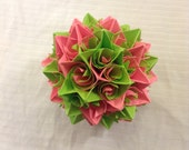 Pink and Green Paper Centerpiece