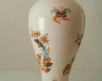 Large Ceramic Vase,Vintage Vase,Chinoiserie Vase,Asian Vase,Large Vase,Decorative Vase
