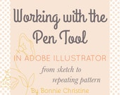 the pen tool - from sketch to repeating pattern! a 3 part series in adobe illustrator