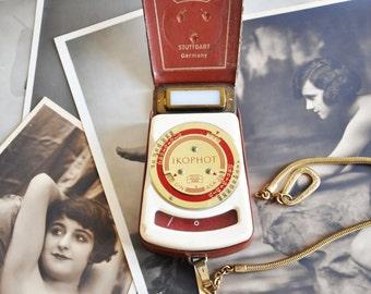 Vintage Zeiss Ikon Ikophot Din Asa Light Exposure Meter in Case with Strap