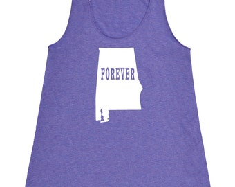 Womens Alabama Forever Tank Top - American Apparel Tri Blend Racerback Tank - XS S M L